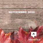 Agenda cultural noviembre de 2020