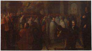 El alma de San Diego de Alcalá asiste al traslado de sus reliquias