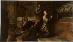 Milagro de doña María de Peñuela (¿_). Serie de la vida de San Diego de Alcalá