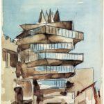 La Pagoda – Dibujo de Miguel Fisac