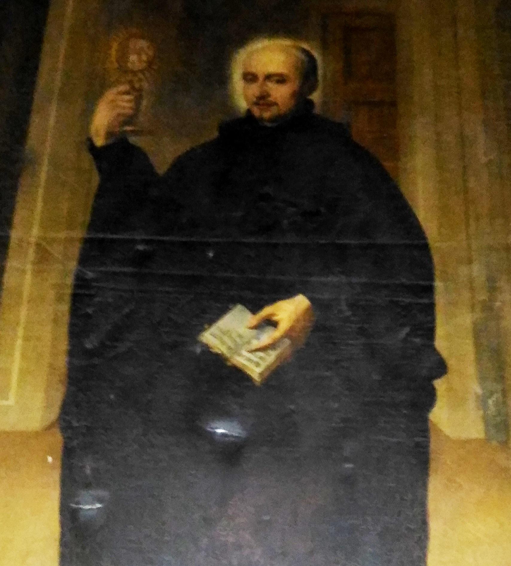 Alegoría de San Ignacio de Loyola en el antiguo Hospital de Antezana