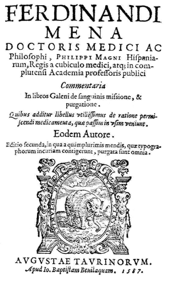 Fernando de Mena, un médico del siglo XVI en Alcalá de Henares