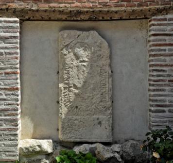 El jardín del antiguo Hospital de Antezana