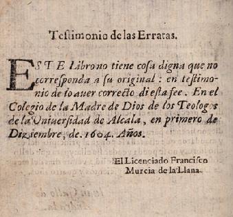 Y el Quijote fue aprobado legalmente, 1604