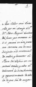 Carta de Ventura Rodríguez, reforma del Colegio Máximo, Alcalá de Henares