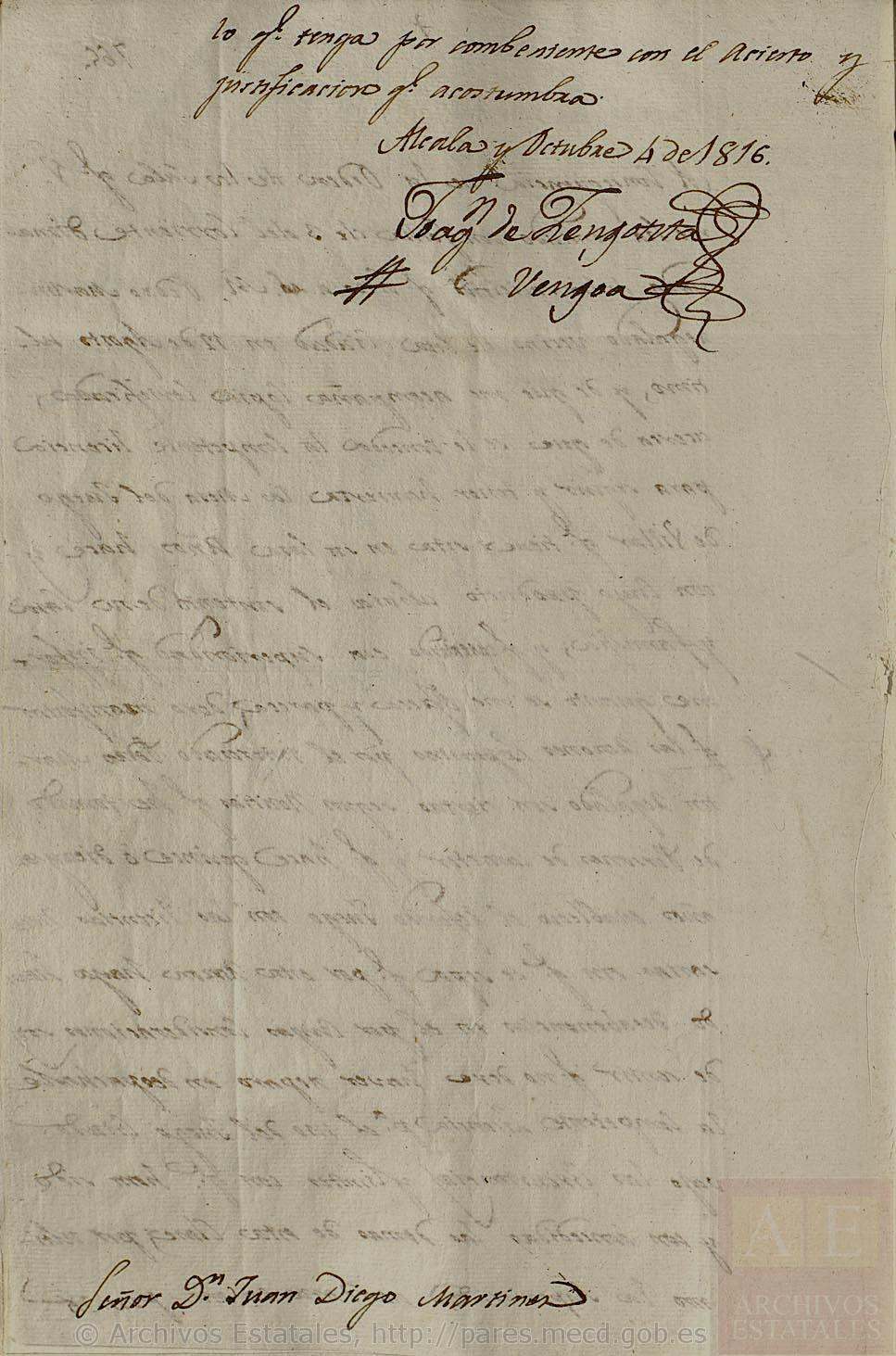 El juego del billar, Alcalá de Henares, 1816