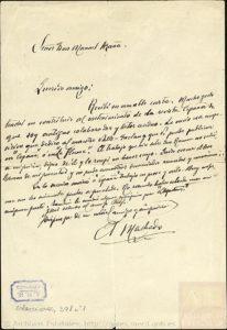 A. Machado a Manuel Azaña