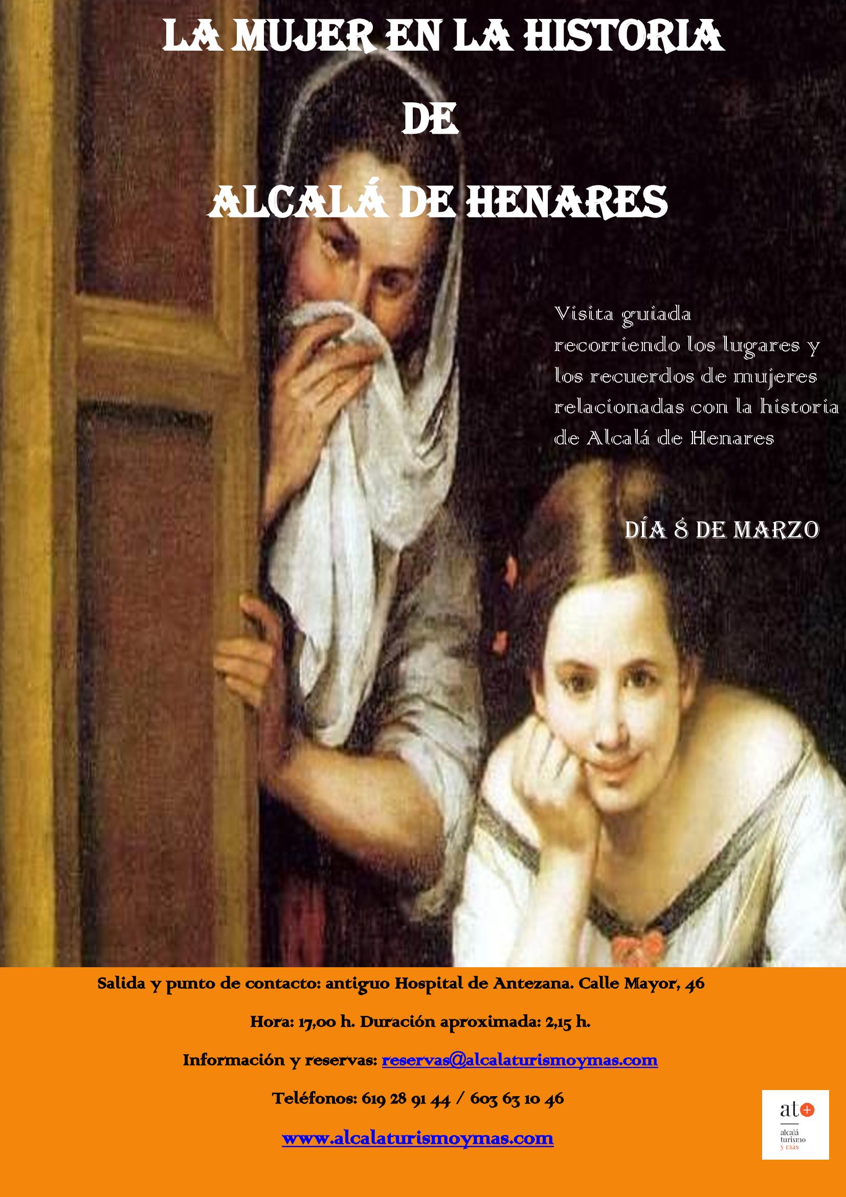 """8 de marzo. Visita guiada """"La mujer en la historia de Alcalá de Henares"""""""