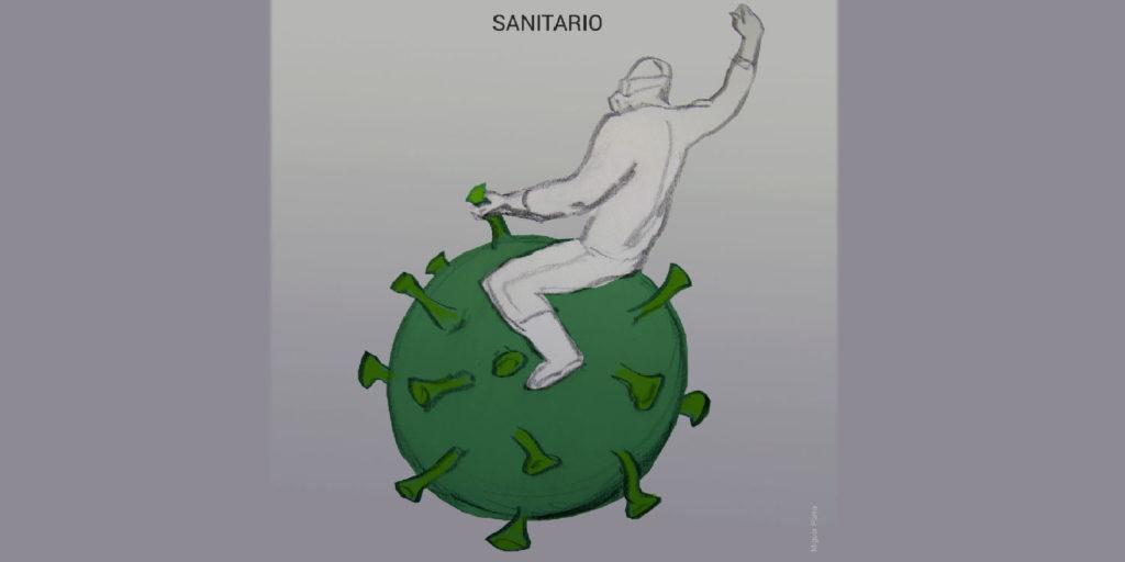 Balcones, viñetas de la pandemia, Alcalá de Henares