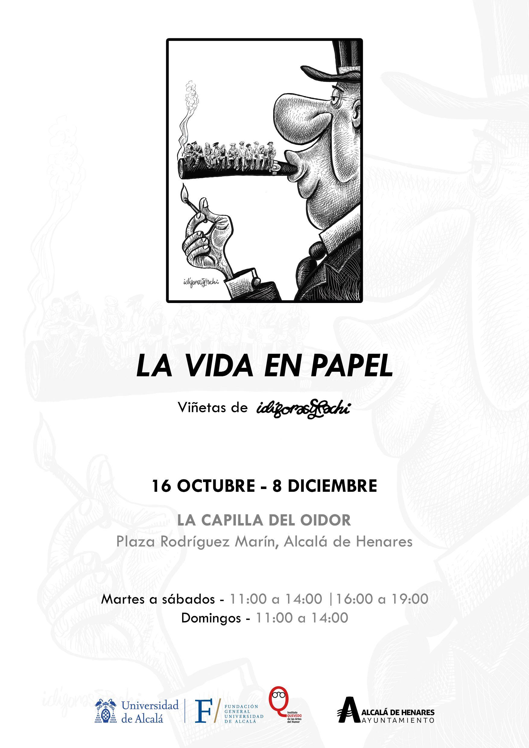 La vida en papel, viñetas de Idígoras y Pachi, Alcalá de Henares