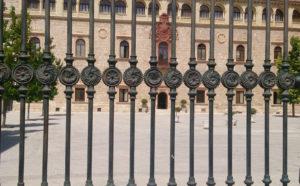 La reja neorrenacentista del Palacio Arzbispal, Alcalá de Henares