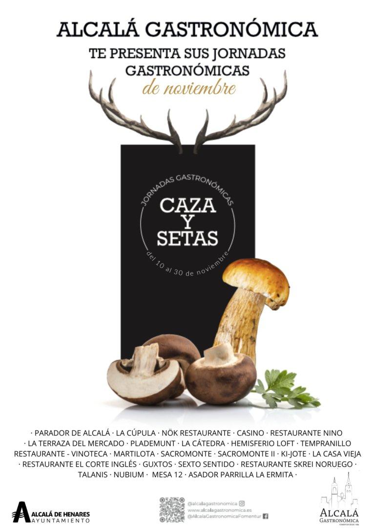 Jornadas gastronómicas de noviembre, caza y setas, Alcalá de Henares