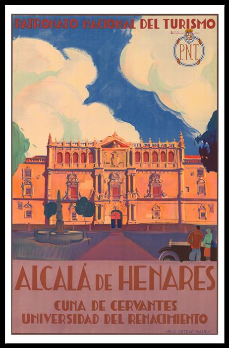 Cartel de Alcalá de Henares, Patronato Nacional de Turismo